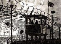 Guantanamo, Schwarz weiß, Stillleben, Zeichnungen