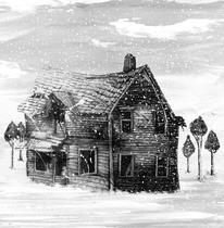 Winter, Schnee, Kälte, Tusche