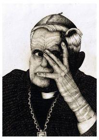 Papst, Menschen, Portrait, Gesicht