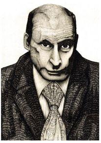 Putin, Zeichnungen, Portrait