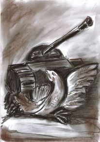 Frieden, Panzer, Taube, Rüstung