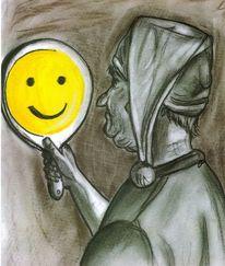 Spiegel, Narziss, Spiegelbild, Smiley