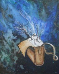 Winter, Tasche, Malerei