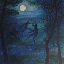 Mond, Tanz, Malerei