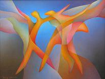 Abstrakt, Ölmalerei, Fotografie, Entscheidung
