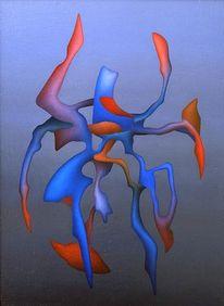 Abstrakt, Ölmalerei, Malerei, Fremde