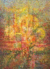 Abstrakt, Ölmalerei, Malerei, Garten