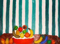 Essen, Früchte, Blau, Banane
