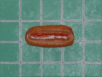 Hotdog, Bockwurst, Esse, Eat of art