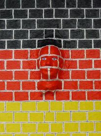 2014, Mauerfall, Malerei