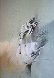 Erotik, Bleistiftzeichnung, Zeichnung, Akt