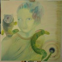 Ölmalerei, Quetzalcoatl, Malerei