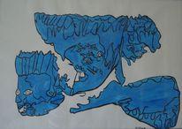 Blau, Ölmalerei, Amerika, Malerei