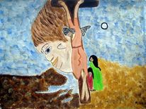 Auferstehung, Figur, Familie, Ölmalerei