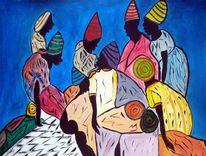 Dominikana, Ölmalerei, Familie, Hatianisch