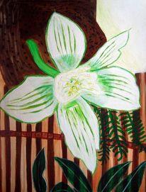 Blumen, Braun, Dominikana, Ölmalerei