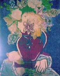 Kräftig, Wasserfarben, Vase, Stilvoll