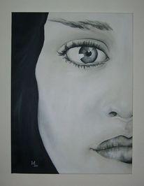 Menschen, Malerei, Blick