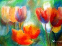 Blumen, Blume tulpen, Malerei, Pflanzen