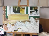 Fundstück, Stillleben, Ölmalerei, Glas