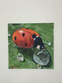 Sommer, Insekten, Natur, Ölmalerei
