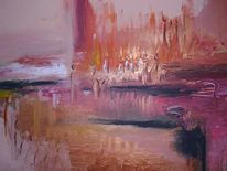 Menschen, Acrylmalerei, Abstrakt, Landschaft