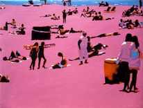 Spanien, Ölmalerei, Violett, Pink