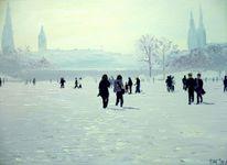 Landschaft, Norden, Schnee, Hamburg