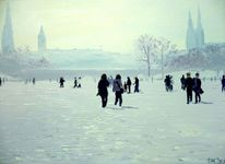 Art coach international, Schnee, Hamburg, Alster