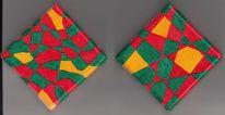Grün, Rot, Muster, Linie