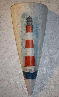 Acrylmalerei, Ton, Vase, Serviettentechnik