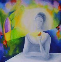 Frühling, Gelb, Acrylmalerei, Stimmung