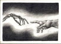 Zeichenpapier, Menschen, Maschine, Schwarz weiß
