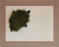 Collage, Malerei, Schildkröte