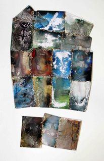 Landschaft, Collage, Natur, Blau