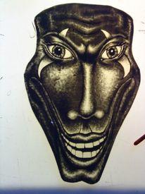 Schwarzlot, Malerei, Glasmalerei, Joker