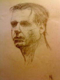 Graphit stift, Grafik, Ausdruck, Portrait