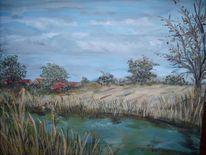 Meer, Landschaft, Ostfriesland, Acrylmalerei