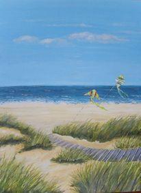 Meer, Sommer, Acrylmalerei, Langeoog