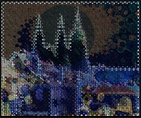 2011, Ölmalerei, Hradschin, Digitale kunst vogel