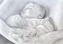 Portrait, Bleistift auf papier, Porträtmalerei, Bleistiftzeichnung