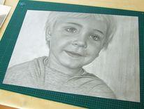 Portrait, Porsonenporträt, Bleistift auf papier, Porträtmalerei