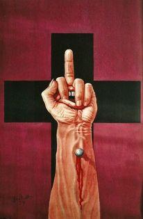 Gouachemalerei, Unchristlich, Aufgeklärt, Kritik