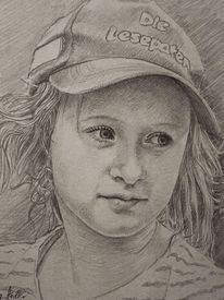 Bleistiftzeichnung, Entwurf, Wandmalerei, Kind