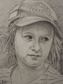 Wandmalerei, Kind, Entwurf, Tochter