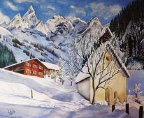 Tirol, Gebirgsaquarell, Nok, Allgäuer