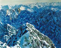 Berge, Gestein, Schnee, Alpen