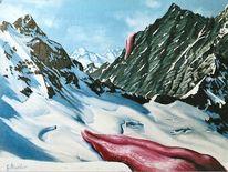 Hufi, Gebirgsmalerei, Berge, Firn