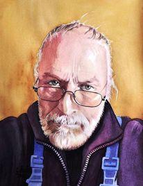 Zeichnung, Brille, Mosbach, Portrait