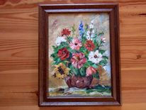 Rittersporn, Mohn, Sonnenblume, Blumen